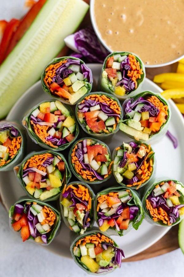 Easy vegan summer rolls