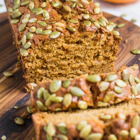 Vegan Pumpkin Bread- this pumpkin bread comes together in just one big bowl, is completely dairy free, and something everyone will love!