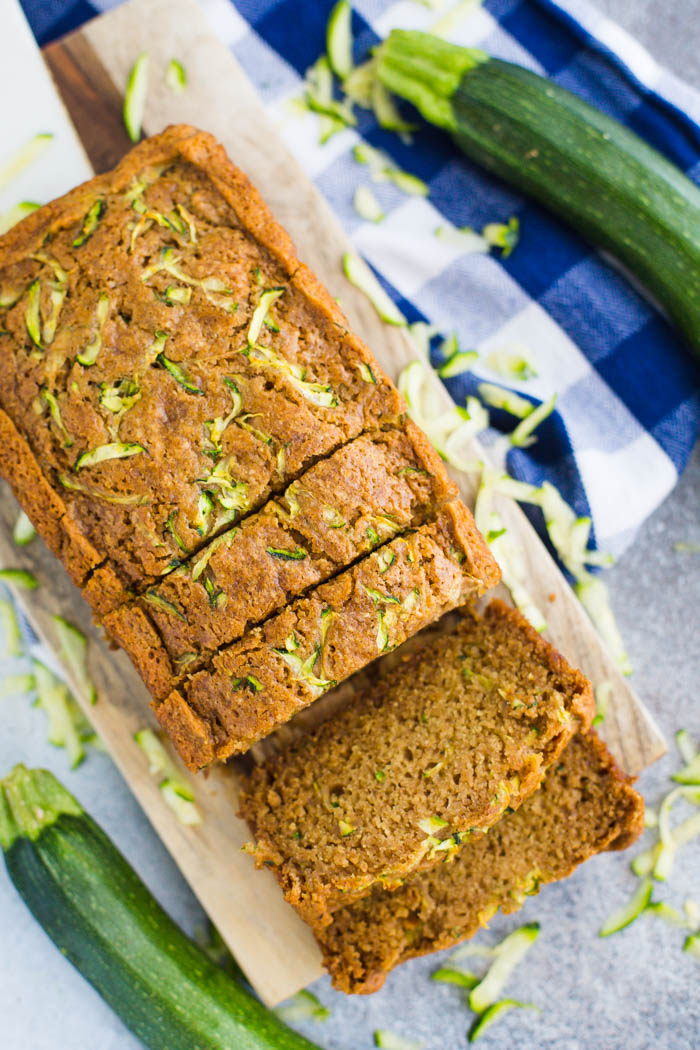 Super Easy Vegan Zucchini Bread Recipe perfect for all of that summer zucchini! Make an extra loaf to keep in the freezer for later.