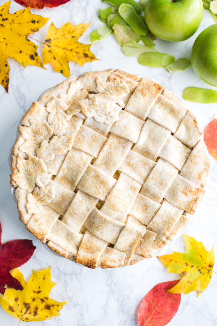 Vegan Apple Pie- the crust is a coconut oil crust and the filling is simple, sweet, and DELICIOUS!!