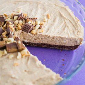 Vegan No Bake Peanut Butter Pie
