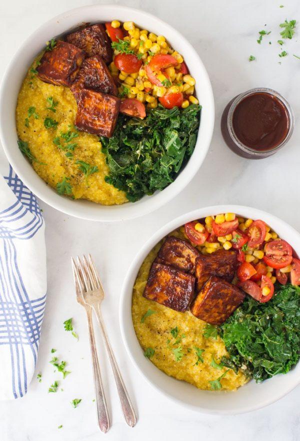 Vegan BBQ Tofu Summer Bowls