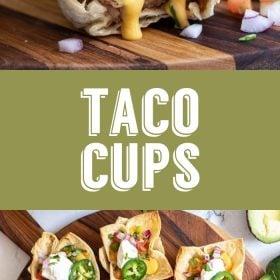 vegan taco cups