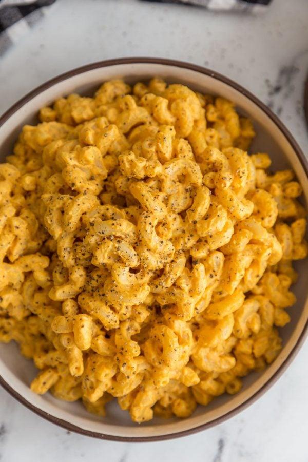 bowl full of the best vegan mac and cheese