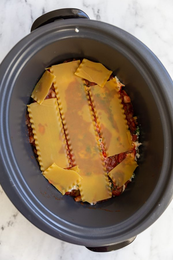 how to make crockpot lasagna