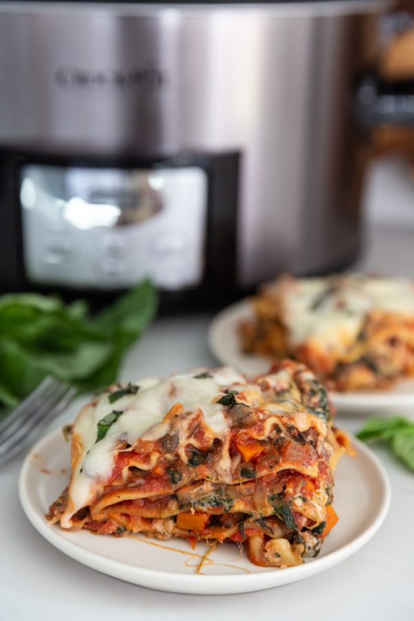 vegetarian lasagna in the slow cooker