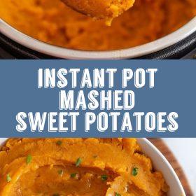 instant pot mashed sweet potato