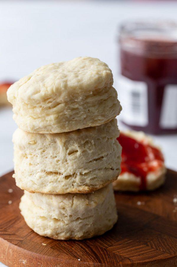 stack of vegan biscuits
