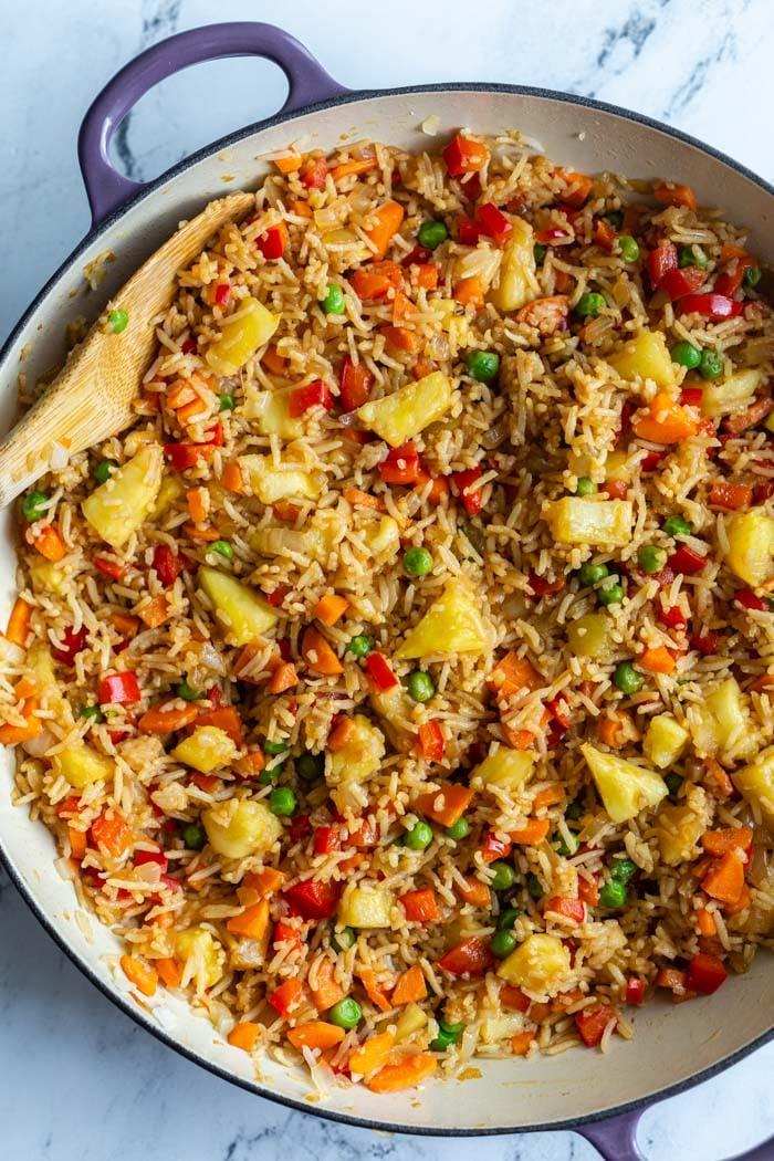 Arroz frito com abacaxi | Comida com sentimento 1