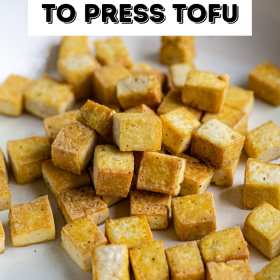 Como pressionar Tofu (com e sem uma prensa de tofu!) 3