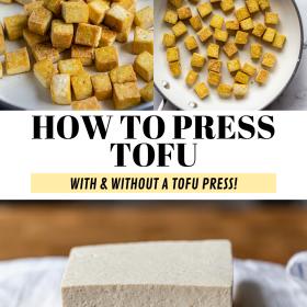 Como pressionar Tofu (com e sem uma prensa de tofu!) 2