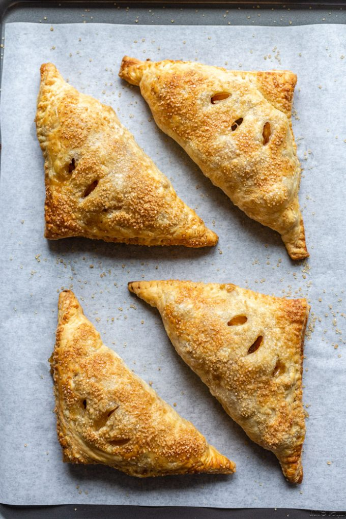 apple turnovers on parchment paper