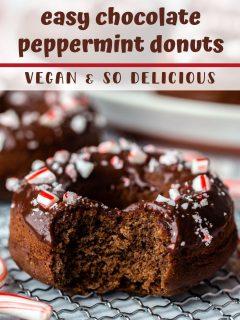 Donuts de chocolate com hortelã-pimenta | Comida com sentimento 5