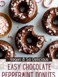 Donuts de chocolate com hortelã-pimenta | Comida com sentimento 4