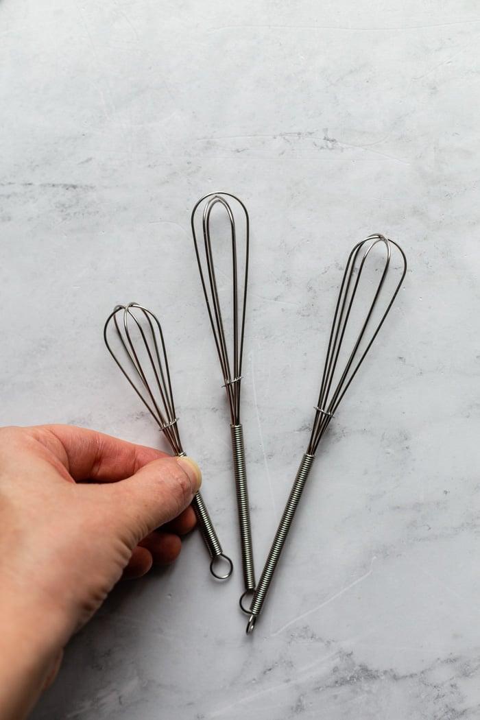 set of 3 mini whisks
