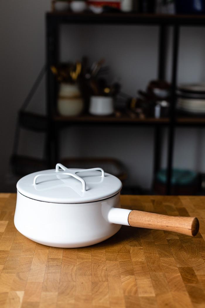 white dansk pot