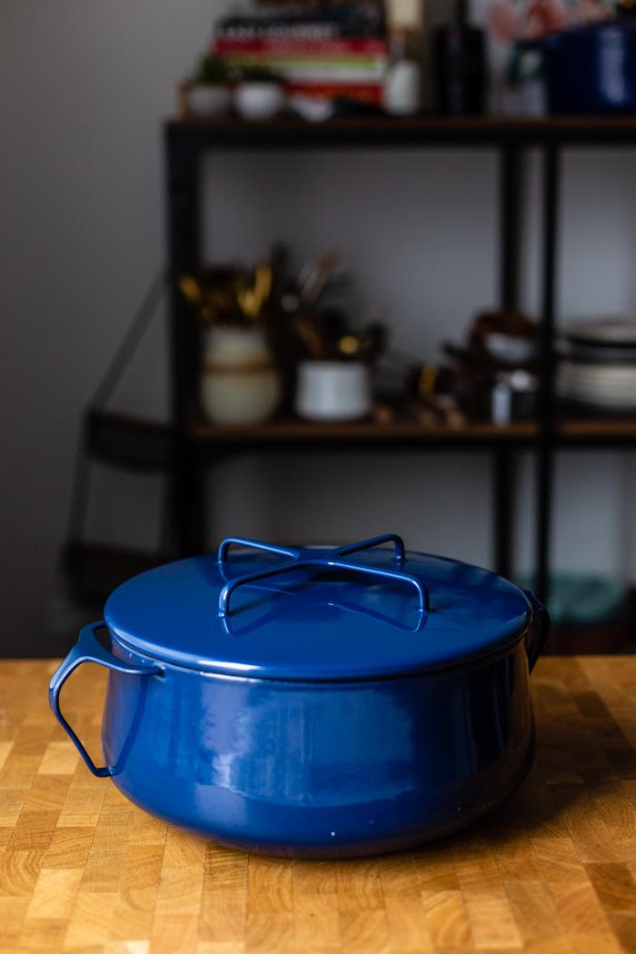 dark blue 4 quart dansk