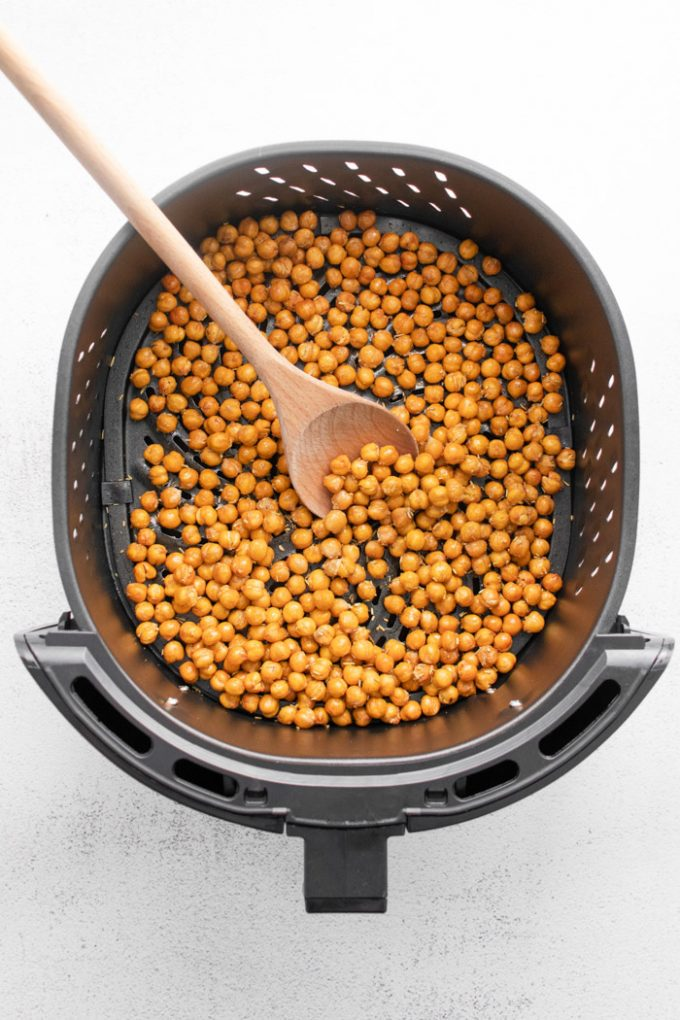 crispy chickpeas in air fryer base