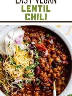 Lentil Chili | Comida com sentimento 3
