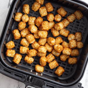 cooked tater tots in the air fryer