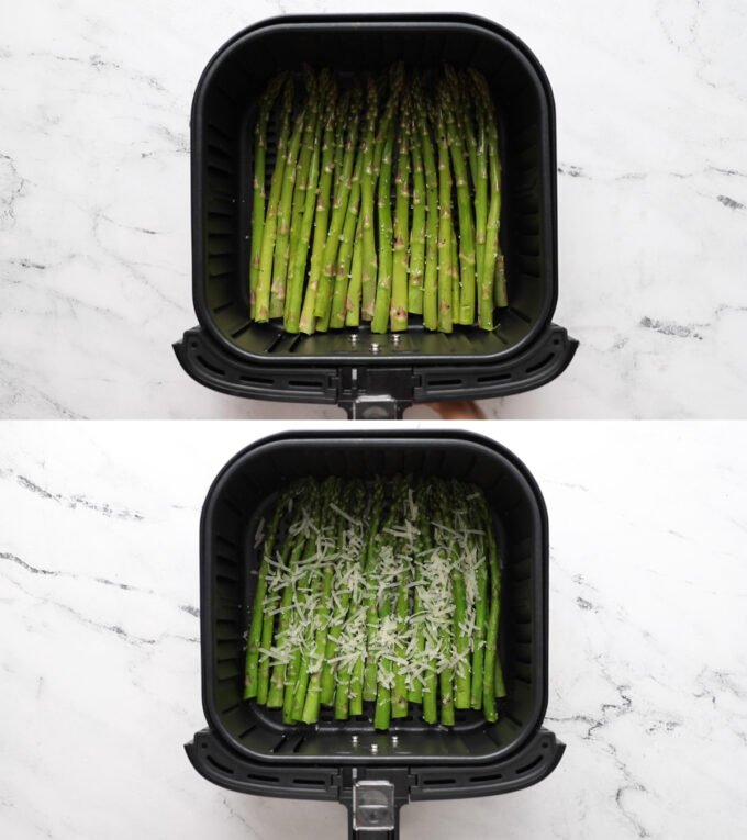 cooking asparagus in the air fryer