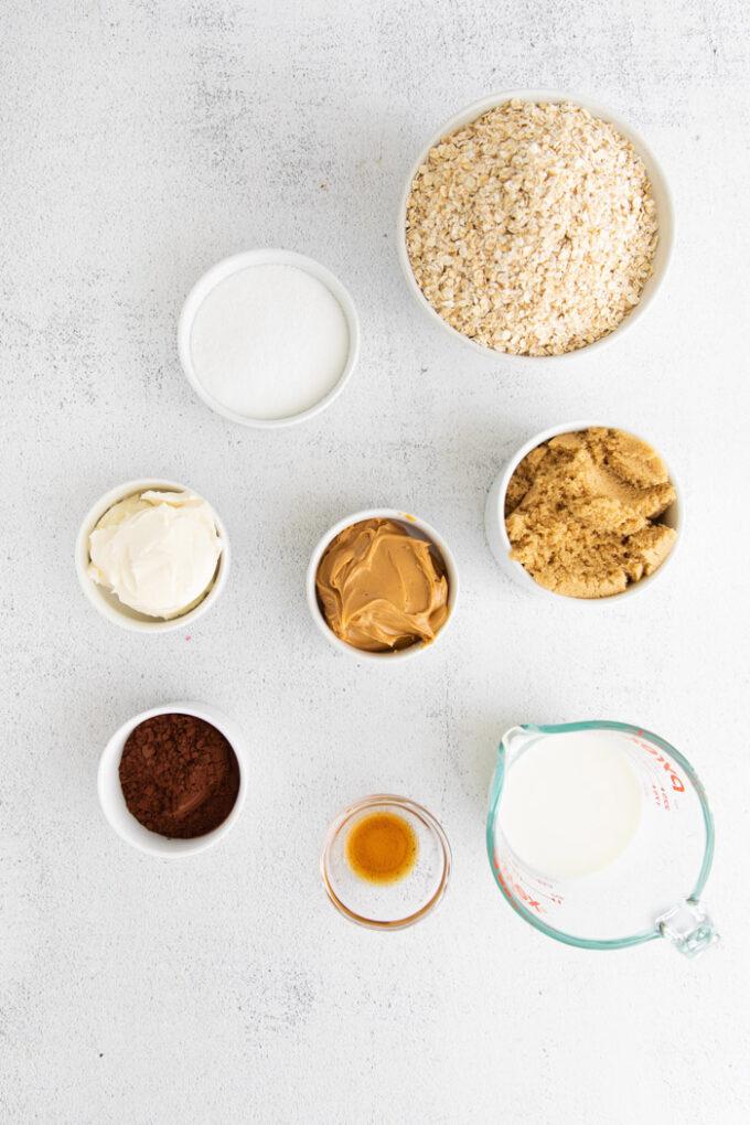 ingredients for vegan no bake cookies