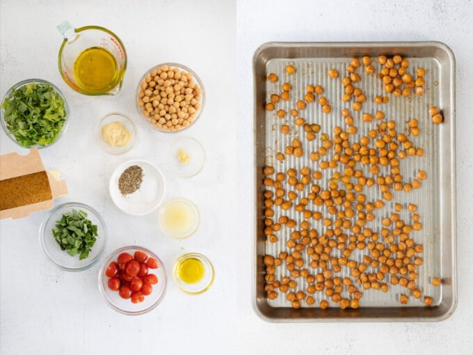 ingredients needed for orzo pasta salad with chickpeas