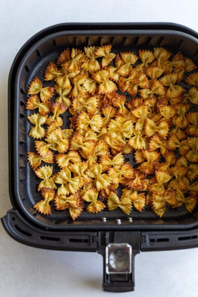 pasta chips in an air fryer