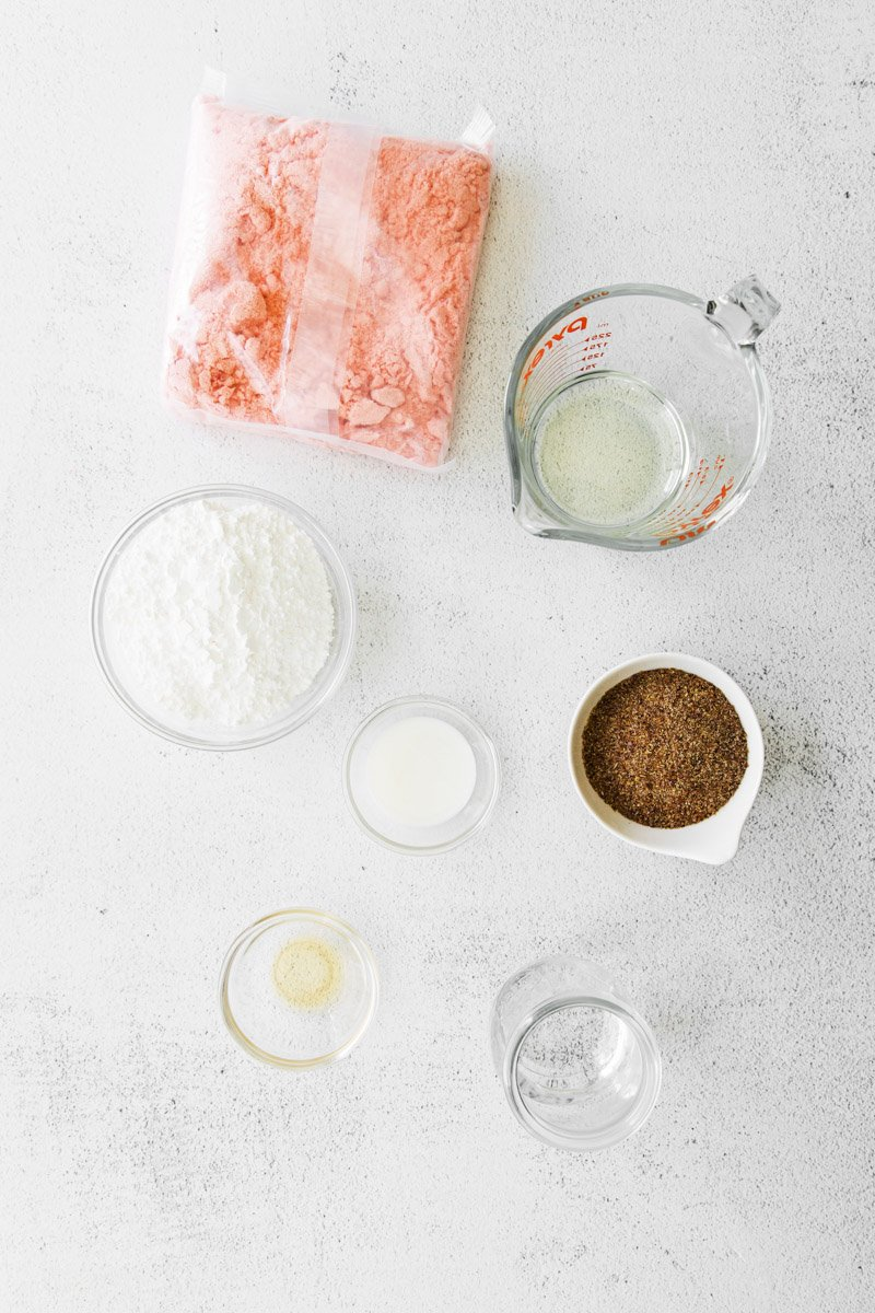 ingredients for strawberry brownies