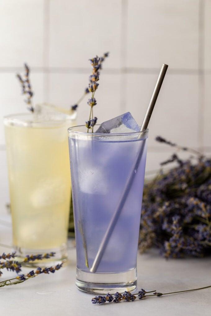 purple colored lavender lemonade