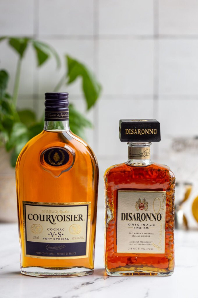 bottles of cognac and amaretto